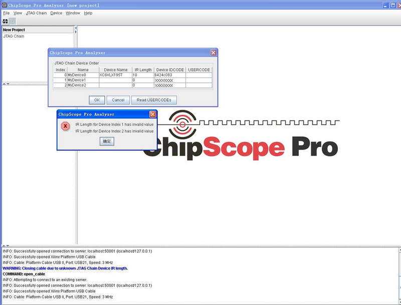 ar 43142 chipscope instruction register length for
